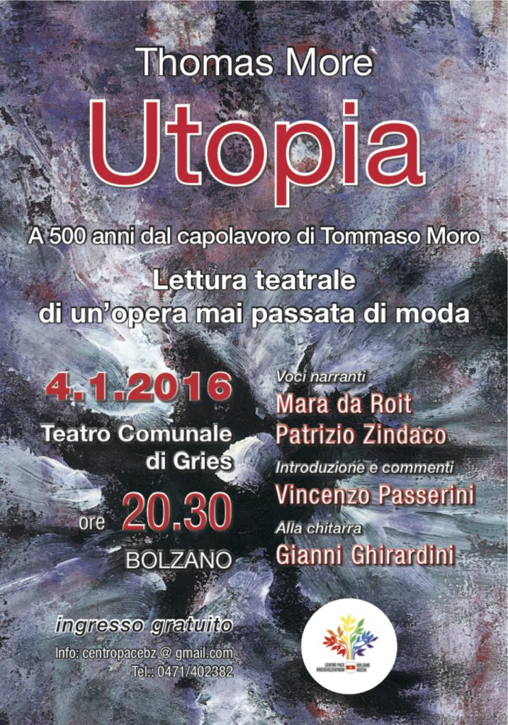 Locandina serata a Bolzano